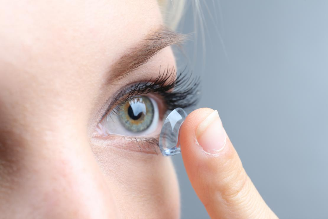 woman contact lenses ortho-k